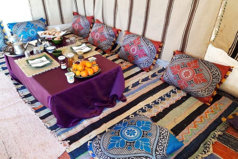 bivouac desert maroc