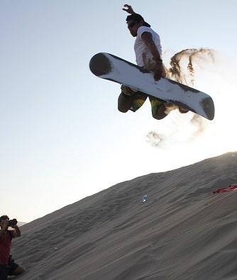 Sandboarding Morocco desert