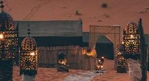 nuit dans le désert de Marrakech
