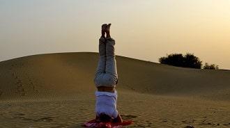 Yoga Morocco desert
