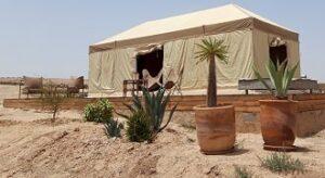dormir dans le désert d'agafay