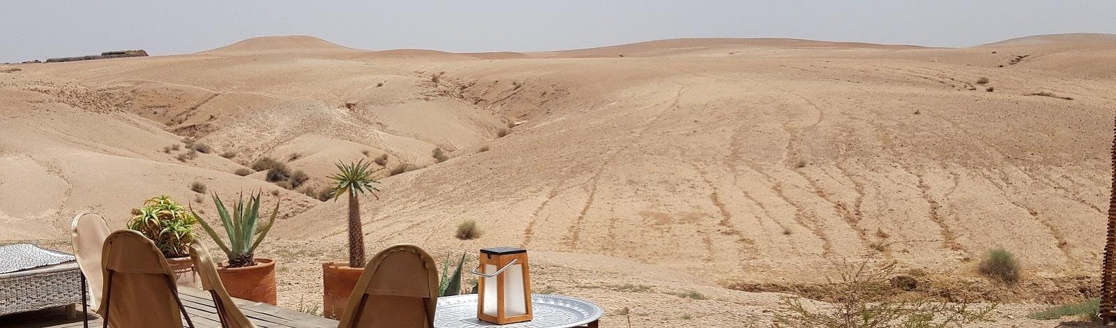 dormir désert agafay